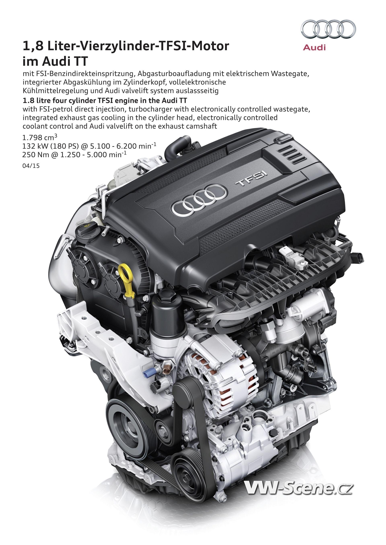 1,8 Liter-Vierzylinder-TFSI-Motor