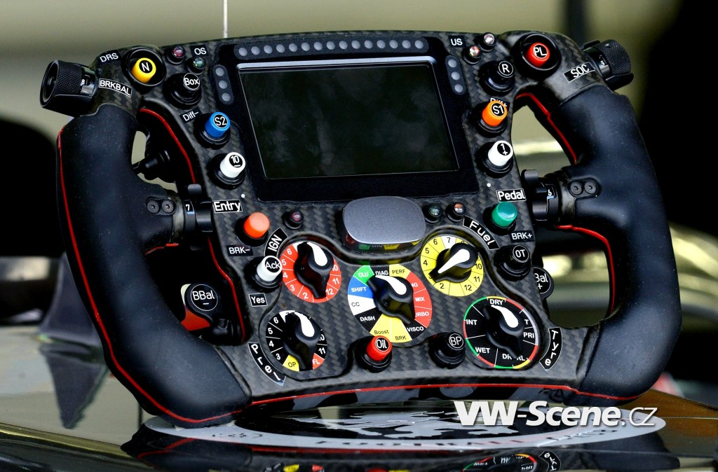 Sauber C33 steering wheel   - F1 test in Bahrain on 27 February 2014. Photo by: nph / Dieter Mathis/picture-alliance/dpa/AP Images