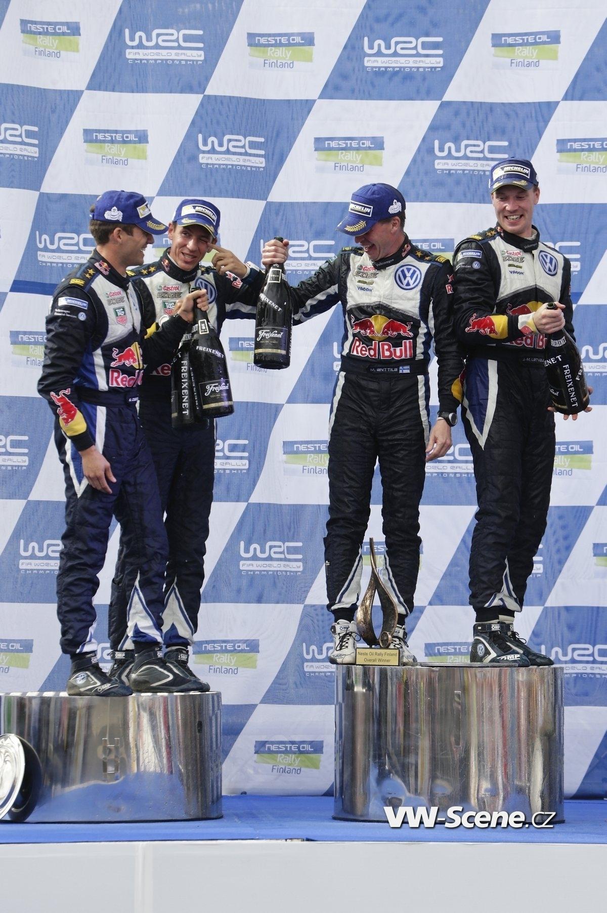 Sébastien Ogier (F), Julien Ingrassia (F), Miikka Anttila (FIN), Jari-Matti Latvala (FIN) WRC Rally Finland 2015