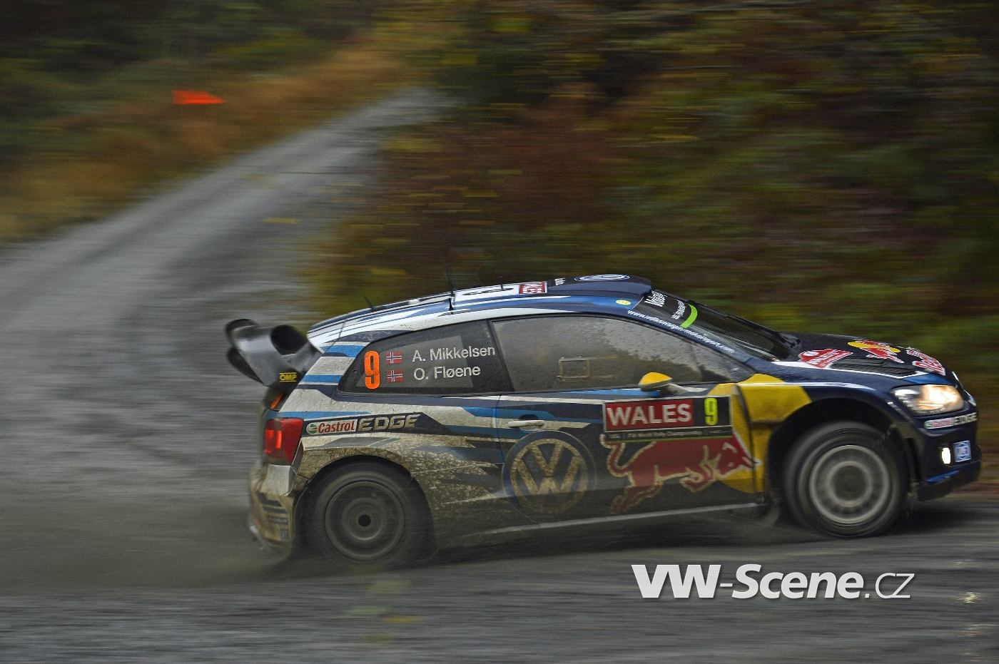 Andreas Mikkelsen (NOR), Ola Fløene (NOR) Volkswagen Polo R WRC (2015) WRC Rally Great Britain 2015