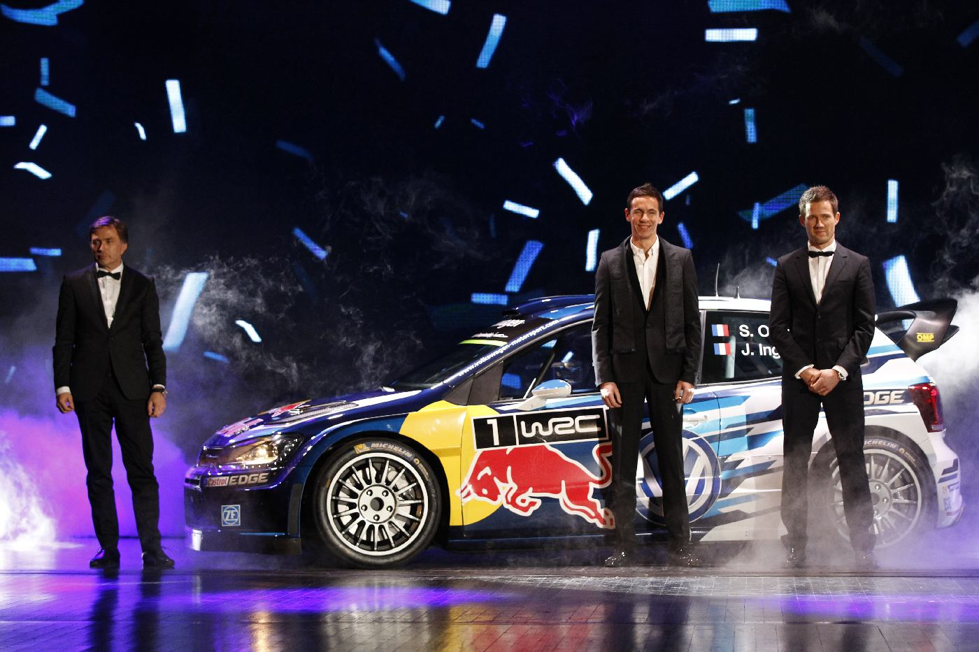 Sebastien Ogier and Julien Ingrassia, portrait during the FIA Prize Giving 2015 on December 4th 2015, at Paris, France. Photo Jean Michel Le Meur / DPPI