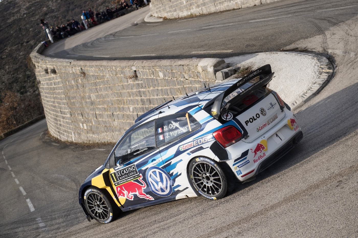 Sebastien Ogier (FRA) competes during the FIA World Rally Championship 2016 in Monte Carlo, Monaco on January 24, 2016