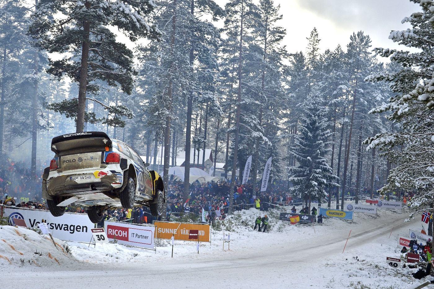 Andreas Mikkelsen (NOR), Anders Jæger (NOR) Volkswagen Polo R WRC (2016) WRC Rallye Sweden 2016
