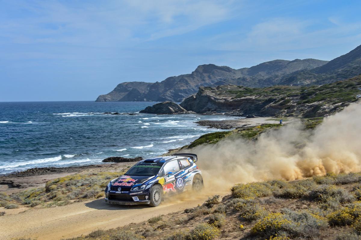Sébastien Ogier (F), Julien Ingrassia (F) Volkswagen Polo R WRC (2016) WRC Rally Italia Sardegna 2016